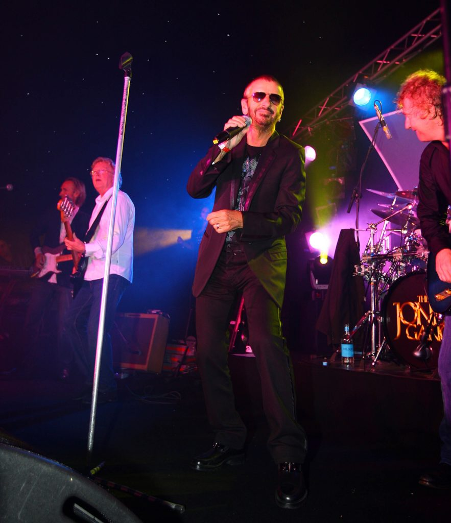 Cowdray Park Polo Club Charity Concert . The Jones Gang, Gary Brooker (Procol Harum), Mike Rutherford and Ringo Starr