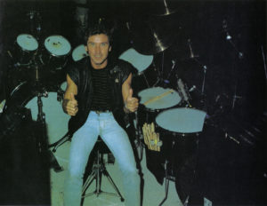 Kenney Jones in Modern Drummer magazine