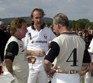 Kenney Jones, Mike Rutherford and The Prince of Wales at Hurtwood Polo Club