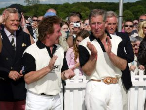 Kenney Jones and The Prince of Wales at Hurtwood Polo Club