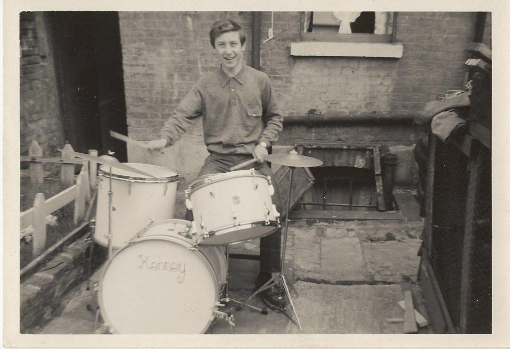 Kenney Jones First Ever Drum Kit