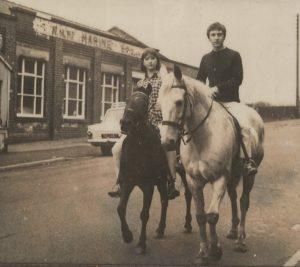 Kenney Jones on horseback