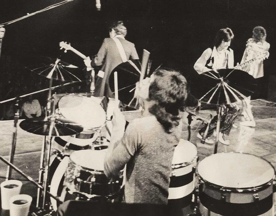 About Kenney Jones, seen here playing with the Faces