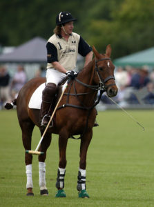Kenney Jones playing polo at Hurtwood Park Polo Club